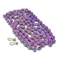 VG Sports 9/10/11 speed Bicycle chain half hollow ultralight 116L mtb bike chain