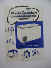 c.1950 Kelvinator Ice Cream Merchandising Equipment Catalog Brochure Vintage VG+