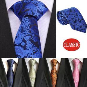Classic Men's 100% Silk Tie Necktie Woven JACQUARD Neck Ties