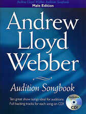 Andrew Lloyd Webber Audition Songbook MALE Book + CD