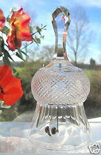 Crystal Bell Scottish Thistle Bell with Clanger and Faceted Handle