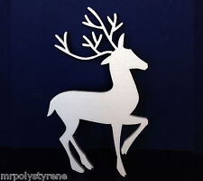 10 POLYSTYRENE CHRISTMAS DECORATIONS DEER LARGE DESIGN 570MM HEIGHT 10MM THICK