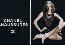 PUBLICITE ADVERTISING 064 2000 CHANEL chaussures  (2 pages)