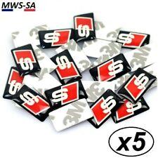 x5 Stickers SLINE Logo 3D Autocollant AUDI S-Line TFSI Quattro A1/A3/A4/A5 ++