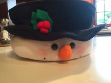 Christmas Holiday Snowman Hat Face Kitchen Dining Bowl Pot Holder Hot Pad