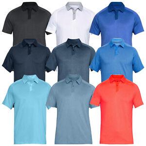 Under Armour Mens Threadborne Tour Polo Shirt - UA Golf Tennis Hockey Top