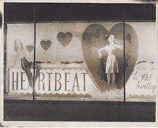 1940s PHOTO STORE WINDOW DISPLAY HEATBEAT BY PAT HARTLEY