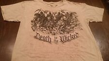 Men's Aaprime DEATH TO THE WICKED AR15 Sickle 4 Horseman MMA Style T-Shirt (L)
