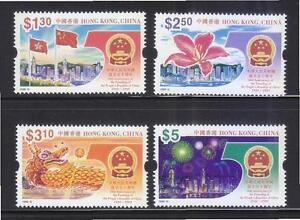China Hong Kong 1999 50th Founding of Peoples Republic China stamps