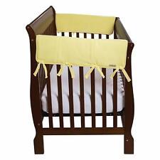 Trend Lab Cribwrap Wide Rail Cover - Short Yellow Fleece - 109064