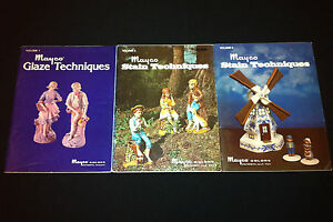 3x Mayco Glaze & Stain Techniques Vol 1 2 3 Hobby Ceramics Projects Figurines