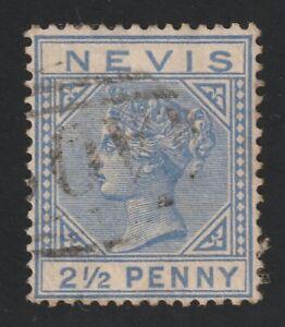 Nevis   1884   Sc #  25(2 1/2p)  Wmkd. 2    Used   $29   (56133)