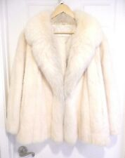 WOMEN'S WHITE MINK COAT WITH WHITE FOX FUR COLLAR EVANS FURS FOR ROBINSONS M