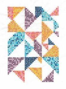 DMC Geometry Rules Pixel Nation Printed Embroidery Kit