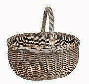 Large Delux Wicker Traditional Shopping Basket