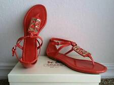 NEW Coach Odele flat sandal size 8.5 US color tangerine leather