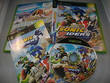 Sonic Riders XBox video game COMPLETE the hedgehog black label original