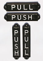OLD VINTAGE STYLE PUSH & PULL DOOR SIGNS - SOLID CAST METAL PUB RESTAURANT CAFE
