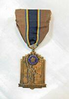 VINTAGE 1947 AMERICAN LEGION RIBBON BRASS LAPEL PIN STATUE OF LIBERTY NEW YORK