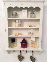 Shabby Chic Wall Shelf Cabinet Unit Cupboard Shelves Storage Bathroom EX DISPLAY