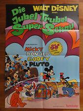 Walt Disney Kinoplakat 70er Jahre DIE JUBEL TRUBEL SUPER SCHAU Mickey Maus