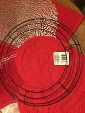 """Lot of 2 - 14"""" round wire wreath form, NWT"""