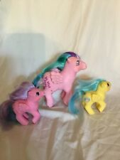 Hasbro Vintage My Little Ponies G1 Whizzer, Baby Northstar, Baby Bouncy