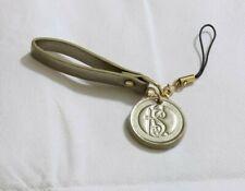 KATE SPADE NEW YORK Logo Leather Strap Lanyard Charm Gold