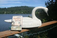 Swan hunting decoy by Ron Saylor,Florence, Oregon, W. Mathewson rig + book.