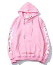 OFF WHITE OW Cherry Blossom Supreme Men's and Women's Round Neck Hoodies
