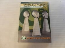 1997 Green Bay Packers Official Media Guide Book Lombardi Trophies on cover