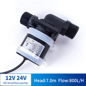 12V 24V DC Brushless Water Pump Solar water Heater Shower Floor Heating Booster