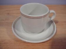 Gold Pin Stripes Royal Doulton Hotelware Demitasse Cup & Saucer Steelite England