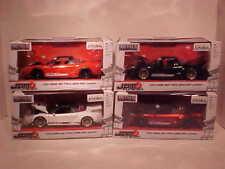 4 pack JDM TUNERS 2002 Honda NSX TYPE R Widebody Diecast Car 1:24 Jada 8 inch
