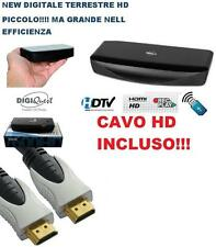 DIGIQUEST DECODER RICEVITORE DIGITALE TERRESTRE 2 SCART TIMER USB 7600HD NUOVO