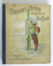 Bright Days Vintage Book Mabel Humphrey Illustrated F. M. Spiegle