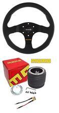 Momo Team Black 300mm Steering Wheel and Momo boss Ford Fiesta Mk6 02-08