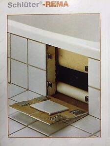 Schluter Rema Magnetic Access Panel System for Tiles and Stone