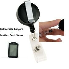 Retractable Lanyard ID Name Badge Card Holder Business Security Pass Tag Cover J