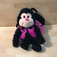 """Jay Play Pink Black Happy Nappers Ladybug Lady Bug Plush Perfect Pillow 21"""""""