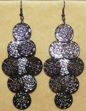 Tribal Gypsy Flamenco Gothic Boho Chandelier Shimmy Belly Dance Dancing Earrings