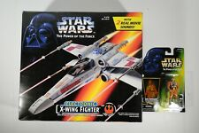 Star Wars Hasbro POTF2 1995 Electronic X-Wing Fighter and Luke Skywalker Pilot