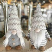Merry Christmas Long Hat Swedish Santa Gnome Plush Doll Elf Toy Ornament H5S8