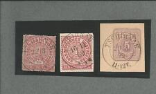 Pr Vor / TSCHIRNAU je K2 auf NDP 4, Briefstück NDP 16 + auf DR-GAA 5 Pfge 1879,