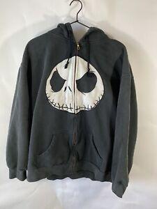 Nightmare Before Christmas Jack Skellington Hoodie Jacket Size 2XL Black Great