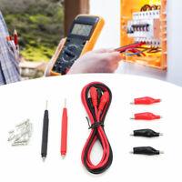 6 in 1 Digital Multimeter Test Lead Probe Wire Pen Cable Aligator Clip Set Kit