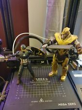 Marvel Legends WORTHY CAP and ARMORED THANOS Complete Build A Figure BAF lot