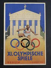 1936 Germany Berlin Olympics Commemorative Postcard Cover to Vienna Austria