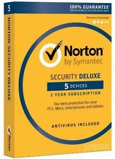 Norton Security Deluxe 3.0 2018 For 5 Devices PC/Mac/Phone Digital Download