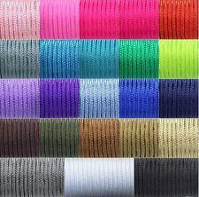 Paracord Schnur Band Flechtschnur Flechtkordel Leine einfarbig 2mm Auswahl